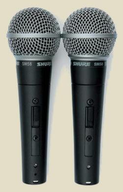 2 микрофона Shure