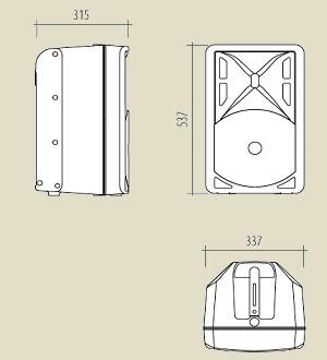 RCF ART 310A размеры
