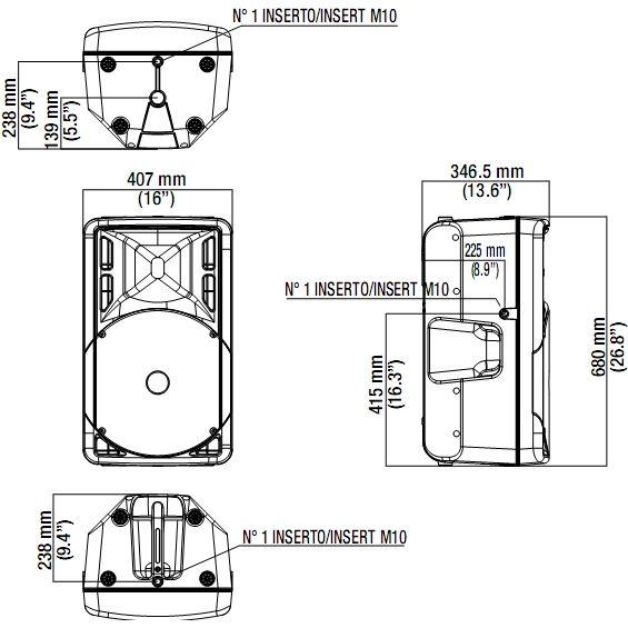 ART 315-A MK III - Размеры